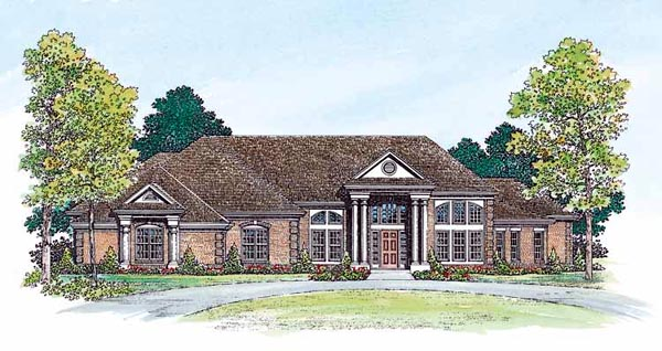 Colonial House Plan 95065 Elevation