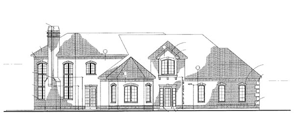 House Plan 95066 Rear Elevation