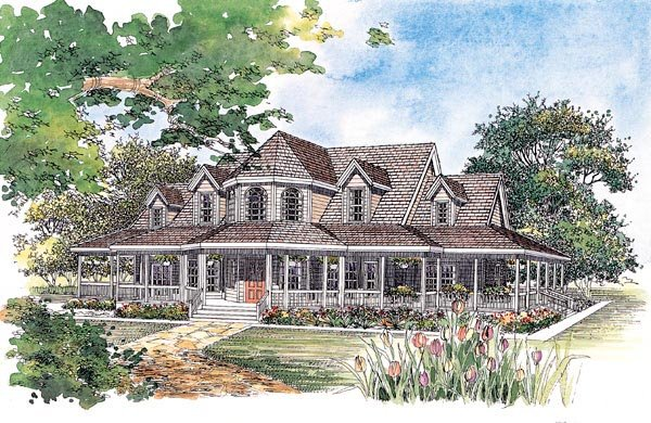 Country Farmhouse House Plan 95067 Elevation