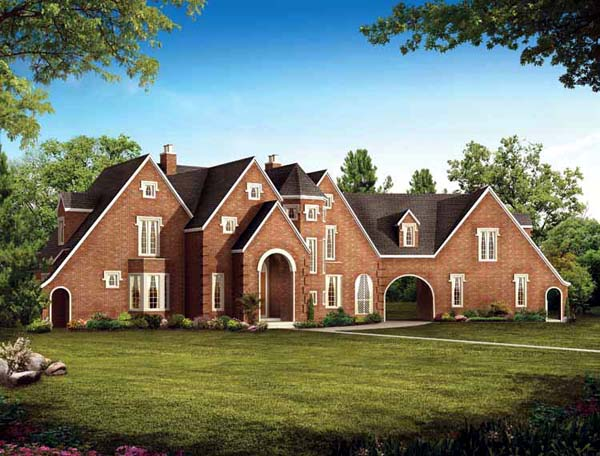 Tudor House Plan 95068 Elevation