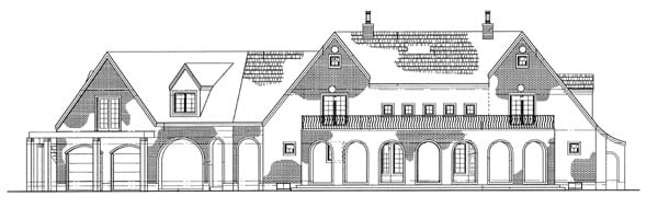 Tudor House Plan 95068 Rear Elevation