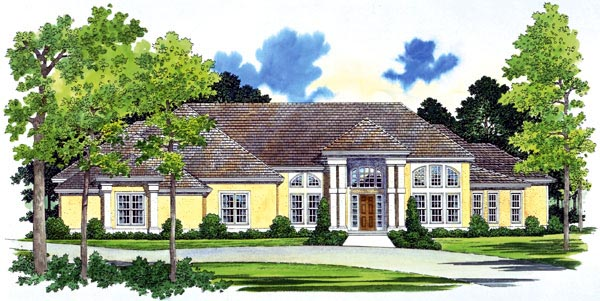 Colonial House Plan 95069 Elevation