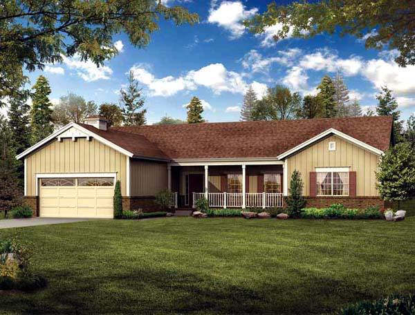 Ranch House Plan 95070 Elevation