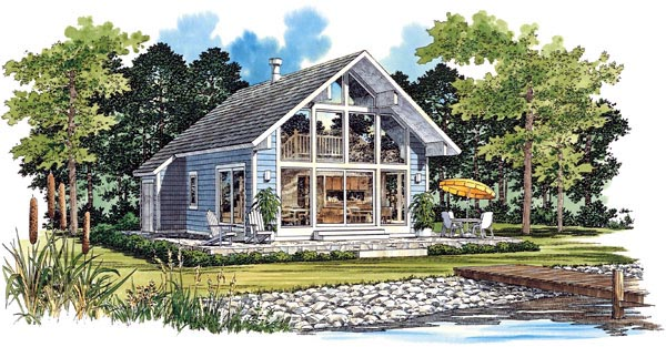 Contemporary House Plan 95071 Elevation