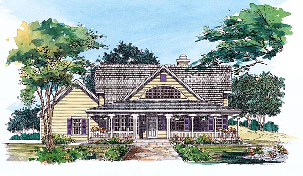 House Plan 95074 | Country Style Plan with 2170 Sq Ft, 3 Bedrooms, 3 Bathrooms, 2 Car Garage Elevation