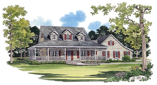 Country House Plan 95075 Elevation
