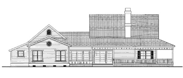 Country House Plan 95075 Rear Elevation