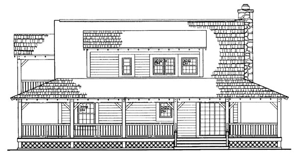Country House Plan 95076 Rear Elevation