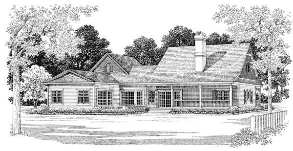 Cape Cod, Country House Plan 95077 with 3 Beds, 3 Baths, 2 Car Garage Picture 1
