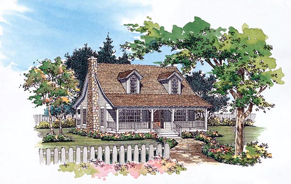 Cape Cod Country House Plan 95078 Elevation