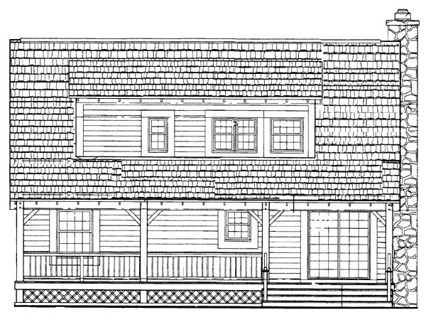 Cape Cod Country House Plan 95078 Rear Elevation