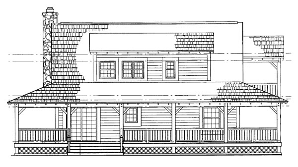 Country House Plan 95079 Rear Elevation