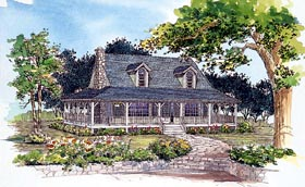 Country House Plan 95080 Elevation