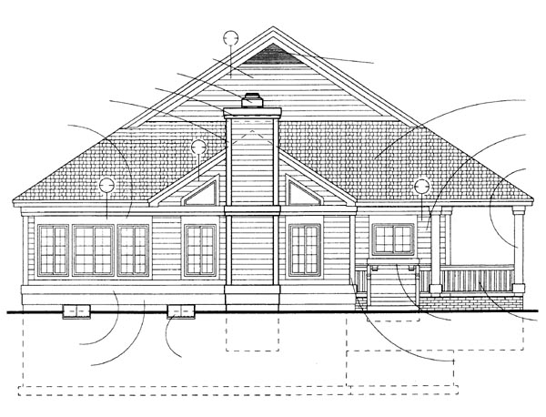 Country House Plan 95082 Rear Elevation