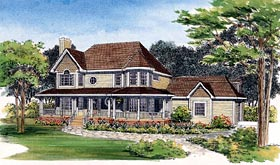 Farmhouse Victorian House Plan 95083 Elevation