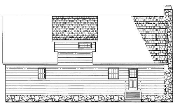 Ranch House Plan 95084 Rear Elevation