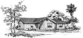 House Plan 95087 | Ranch Style Plan with 1480 Sq Ft, 3 Bedrooms, 2 Bathrooms, 2 Car Garage Elevation