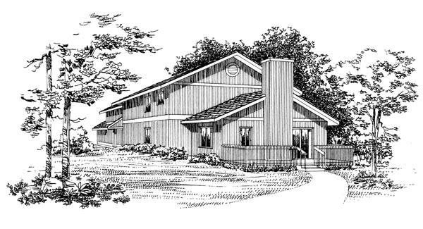 Ranch House Plan 95088 Rear Elevation