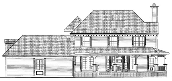 Farmhouse Victorian House Plan 95089 Rear Elevation