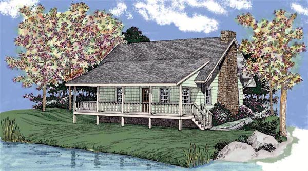 Cabin Ranch House Plan 95090 Elevation