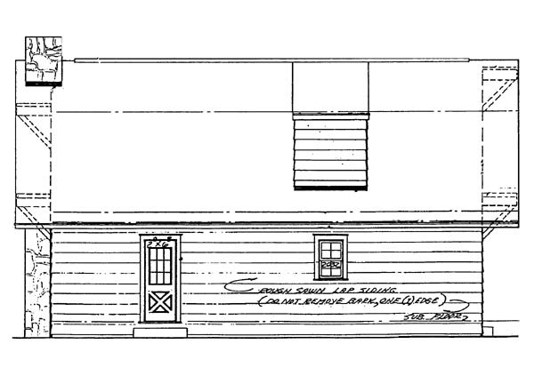 Cabin Ranch House Plan 95090 Rear Elevation