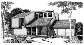 Contemporary House Plan 95094 Elevation
