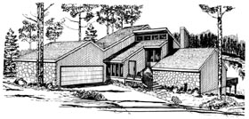 Contemporary House Plan 95095 Elevation