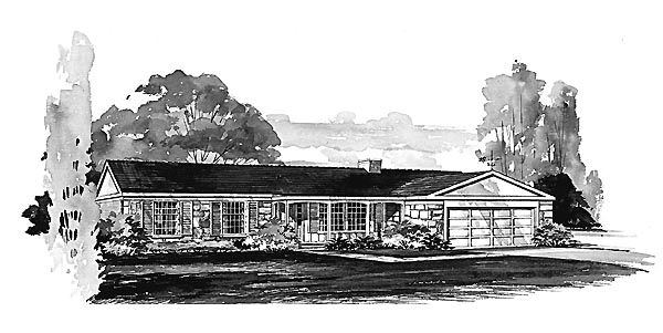 Ranch House Plan 95096 Elevation