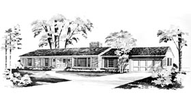Ranch House Plan 95097 Elevation