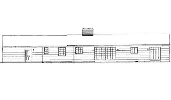 Ranch House Plan 95097 Rear Elevation