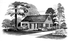 Plan Number 95101 - 1344 Square Feet