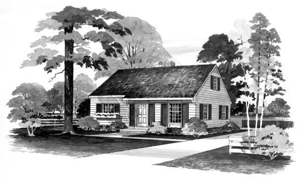 Ranch House Plan 95101 Elevation