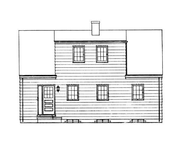 Ranch House Plan 95101 Rear Elevation
