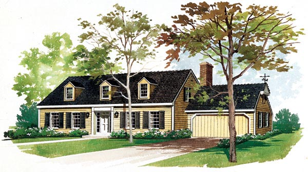 Cape Cod House Plan 95103 Elevation