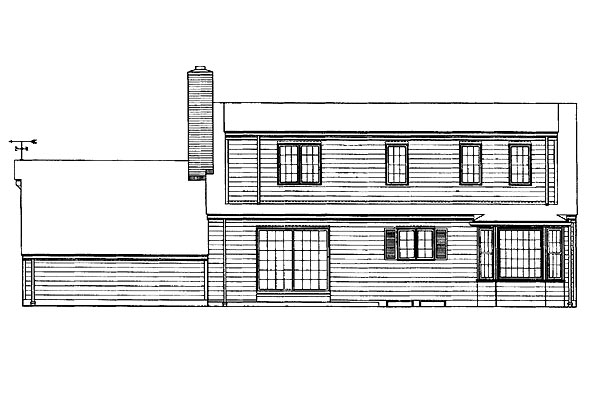 Cape Cod House Plan 95103 Rear Elevation