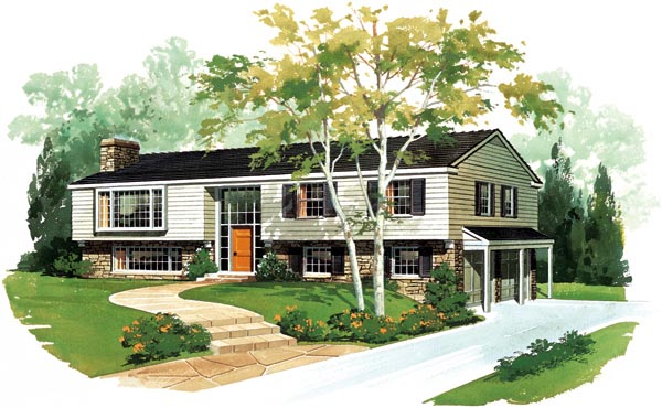 Ranch House Plan 95104 Elevation