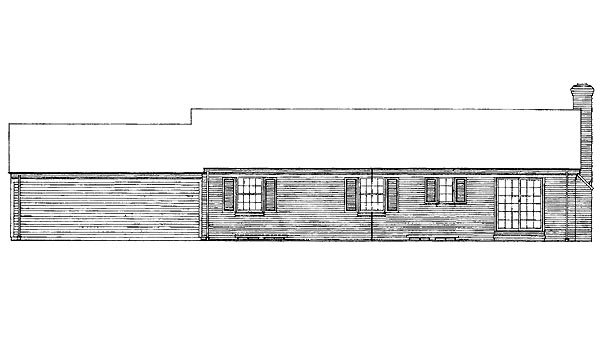Ranch House Plan 95108 Rear Elevation