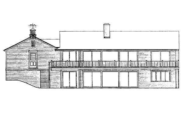 Ranch House Plan 95109 Rear Elevation