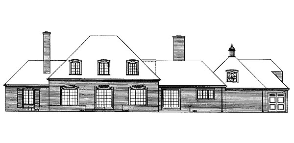 Traditional House Plan 95110 Rear Elevation