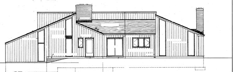 Contemporary, Retro House Plan 95111 with 4 Beds, 3 Baths, 2 Car Garage Picture 2