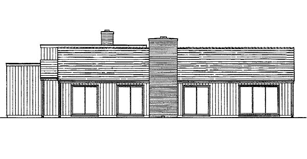 Contemporary Retro House Plan 95111 Rear Elevation
