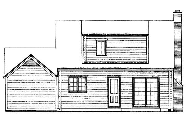 Cape Cod House Plan 95112 Rear Elevation