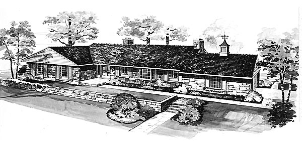 Ranch House Plan 95115 Elevation
