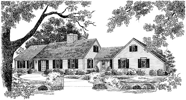 Ranch House Plan 95118 with 4 Beds, 4 Baths, 2 Car Garage Elevation