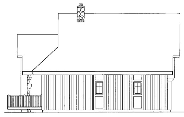 Contemporary House Plan 95121 Rear Elevation
