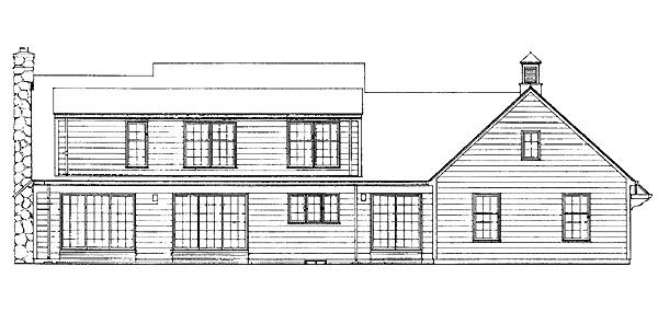 Ranch House Plan 95123 Rear Elevation
