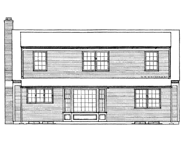 Ranch House Plan 95124 Rear Elevation