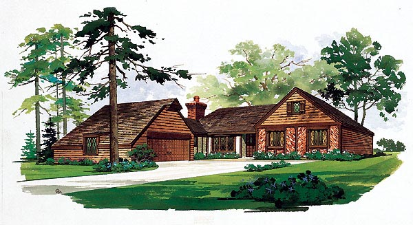 Ranch House Plan 95127 Elevation