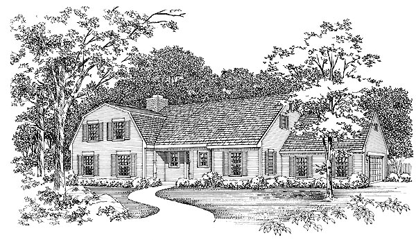 Country House Plan 95130 Elevation