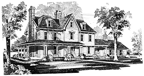 Country Farmhouse House Plan 95133 Elevation